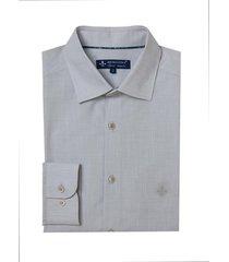 camisa dudalina manga longa fio tinto slub masculina (cinza claro, 7)