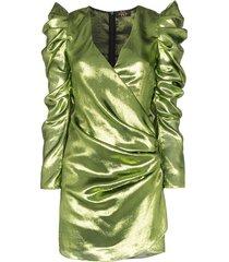 de la vali gin lurex mini dress - green