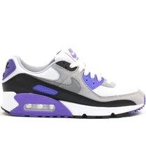 zapatilla gris y violeta nike w air max 90