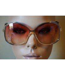 2016 new womens oversize oceanic lens metal frame butterfly sunglasses