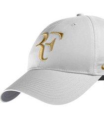 new rf roger federer hat limited edition white/gold adjustable tennis hat