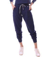 calã§a simony lingerie jogger  delicotton azul marinho - azul marinho - feminino - dafiti