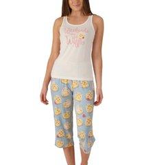 nite nite munki munki plus size waffles tank & capri pajama set, online only