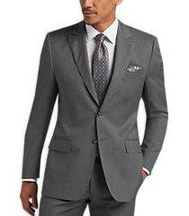 joseph abboud gray tonal stripe modern fit suit