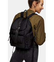 considered black ring nylon backpack - black