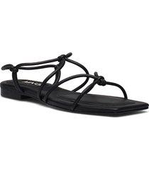 rox shoes summer shoes flat sandals svart mango