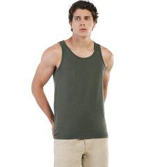 camisilla básica verde militar manpotsherd juan