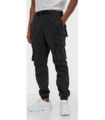 sixth june reflective cargo pants byxor black