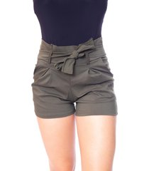 short moda vicio clochard verde militar - verde militar - feminino - viscose - dafiti