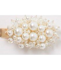 river island womens cream faux pearl hair clip