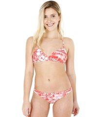 bikini bralette estampado naranjo  h2o wear