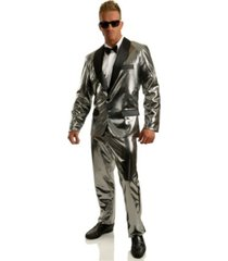 buyseasons men's disco ball silver tuxedo set with pants
