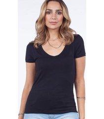 camiseta básica manga curta malha lunender feminina - feminino