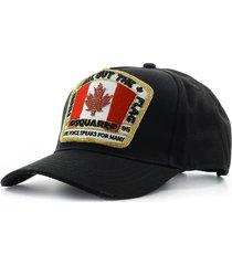 dsquared2 canadian flag black baseball cap