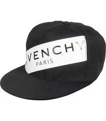 givenchy logo patch snapback cap