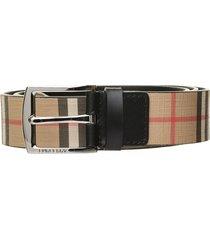 burberry burberry vintage check belt