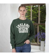 women's green ireland sweatshirt green medium