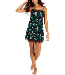 inc lace-trim tropical-print chemise nightgown, created for macy's