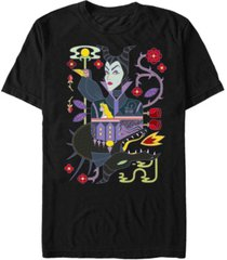 disney men's sleeping beauty maleficent playing card, short sleeve t-shirt