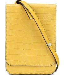 loewe gusset flat crossbody bag - yellow