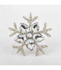 saro lifestyle napkin ring collection snowflake design napkin ring, set of 4