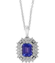 effy women's tanzanite royalé 14k white gold & multi-stone pendant necklace