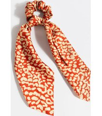 maureen leopard pony scarf - red