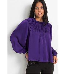 blouse in satijnen look