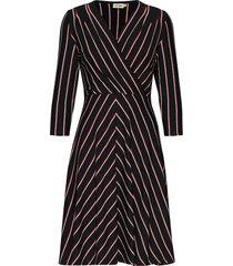 celia stripe jurk knielengte zwart jumperfabriken