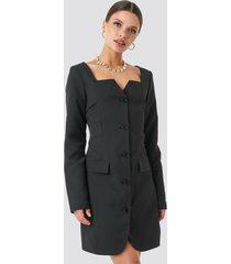 na-kd trend fitted blazer dress - black