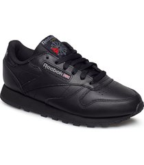 cl lthr låga sneakers svart reebok classics