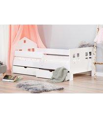łóżko mr ladybird dwie szuflady kolor biały