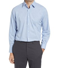 nordstrom traditional fit non-iron chambray dress shirt, size 18.5 - 36 in blue cashmere at nordstrom