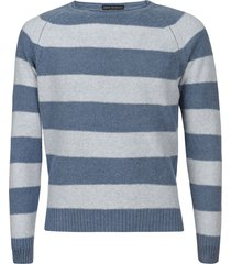 eddy monetti stripe print sweatshirt