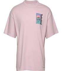 ss beach graphic t t-shirts short-sleeved rosa timberland
