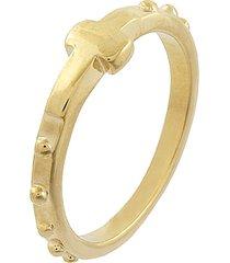 anel narcizza semijoias terço ouro