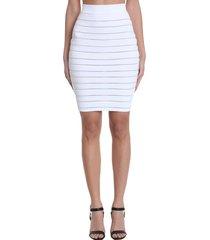 balmain skirt in white viscose