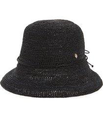 helen kaminski packable raffia hat in charcoal at nordstrom