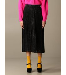 blumarine skirt blumarine pleated and lurex skirt