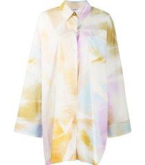 acne studios tie-dye oversized shirt - pink
