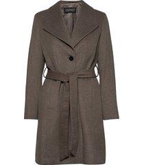 coats woven wollen jas lange jas grijs esprit collection
