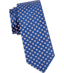 canali men's geometric silk tie - blue