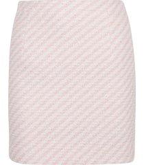 alessandra rich striped tweed mini skirt