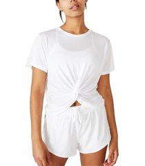 cotton on elastic back twist front t-shirt