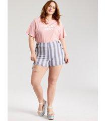derek heart trendy plus size printed shorts