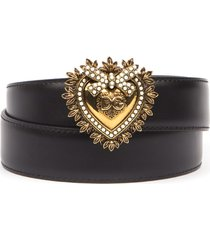 dolce & gabbana black devotion leather belt