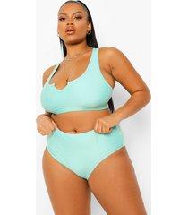 plus essentials bikini broekje met hoge taille, bright green