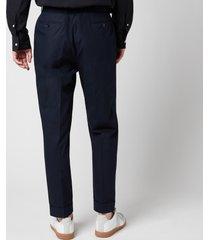 officine generale men's hugo straight fit trousers - dark navy - eu 52/xl