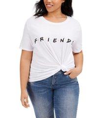 love tribe trendy plus size cotton friends t-shirt