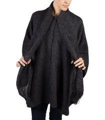 simply natural alpaca lined cape